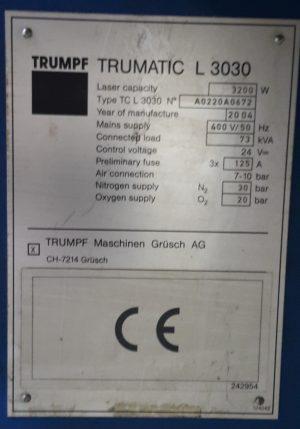 TRUMPF L3030_2004_5